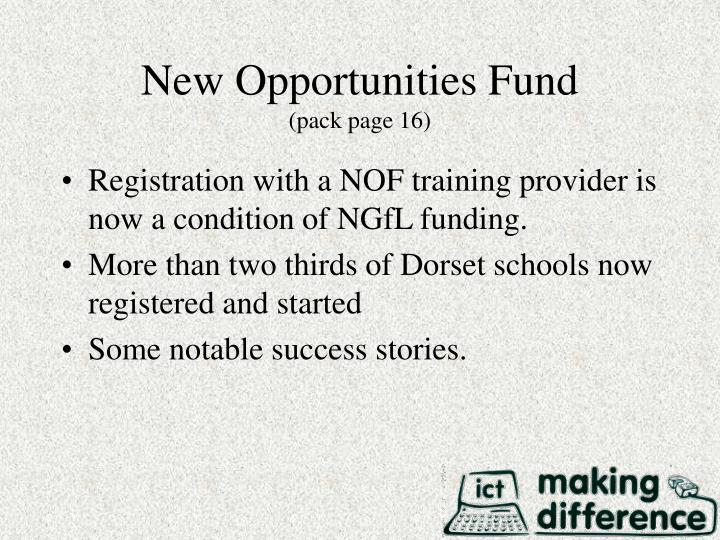New Opportunities Fund