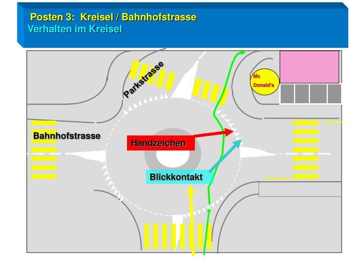 Posten 3:  Kreisel / Bahnhofstrasse