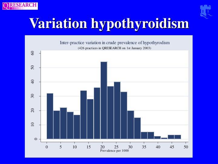 Variation hypothyroidism