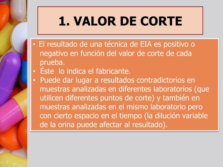 1. VALOR DE CORTE