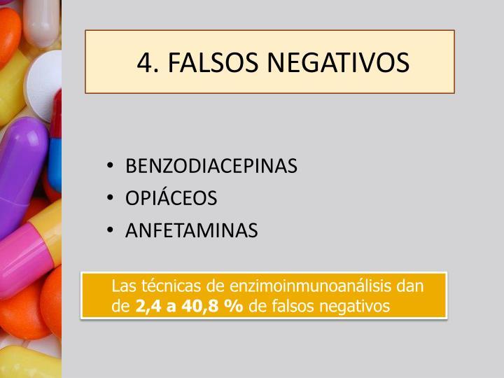 4. FALSOS NEGATIVOS