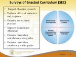 surveys of enacted curriculum sec