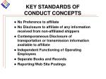 key standards of conduct concepts