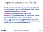 high level technical view of ngson
