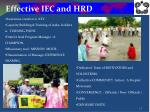 effective iec and hrd