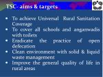 tsc aims targets