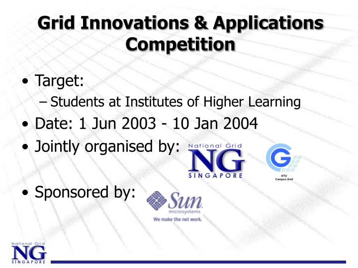 Grid Innovations & Applications Competition