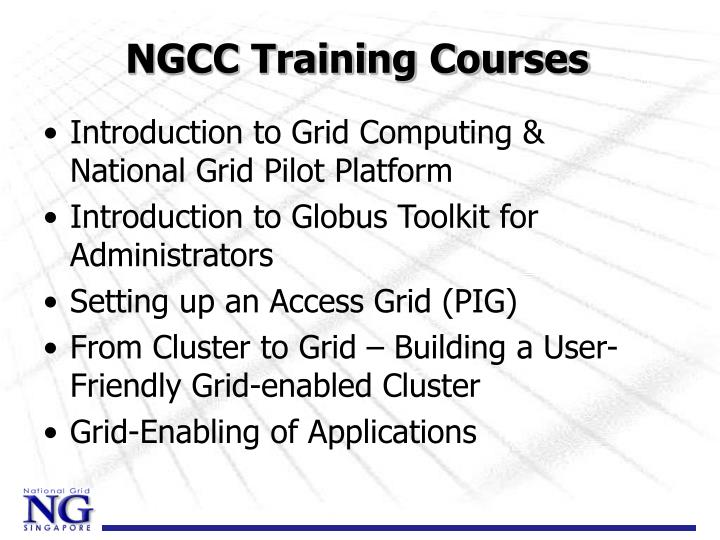 NGCC Training Courses