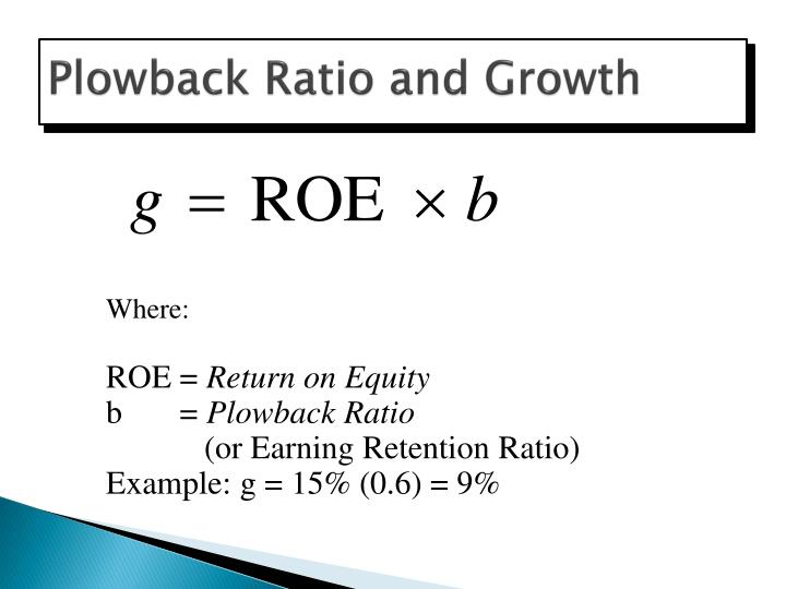 Plowback Ratio and Growth
