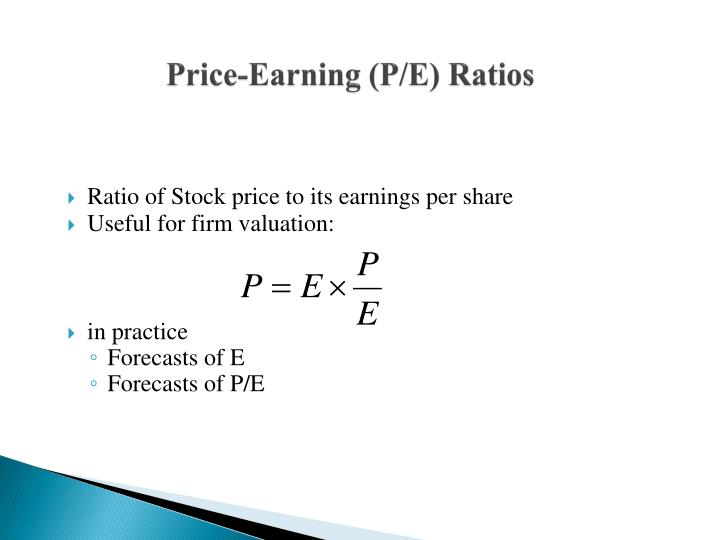 Price-Earning (P/E) Ratios