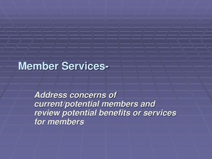 Member Services-