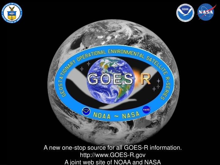 A new one-stop source for all GOES-R information.