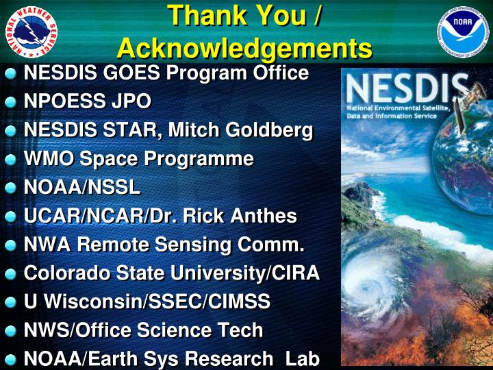Thank You / Acknowledgements