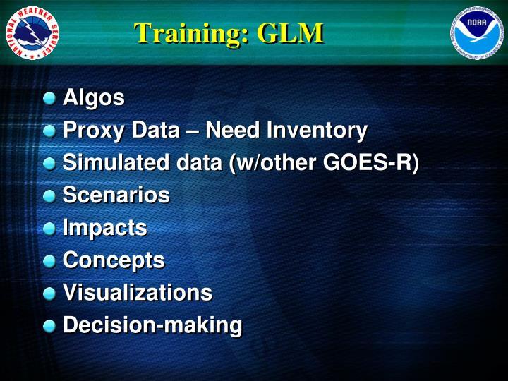 Training: GLM