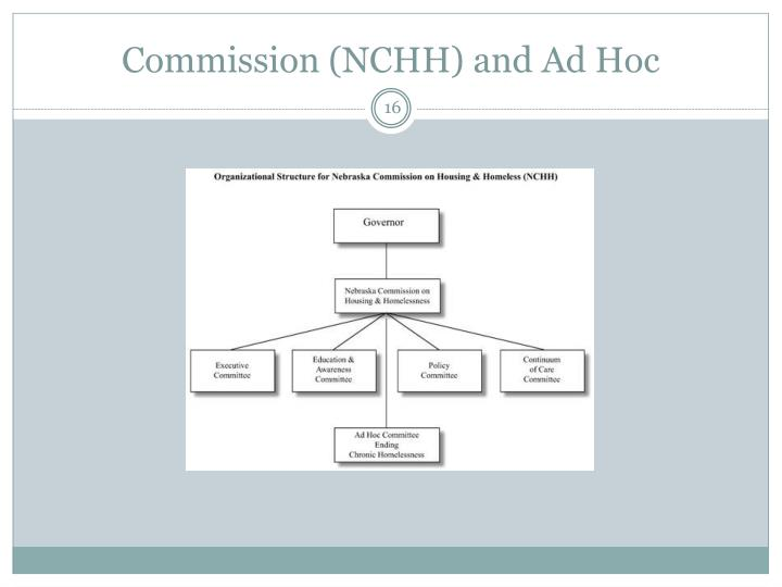 Commission (NCHH) and Ad Hoc