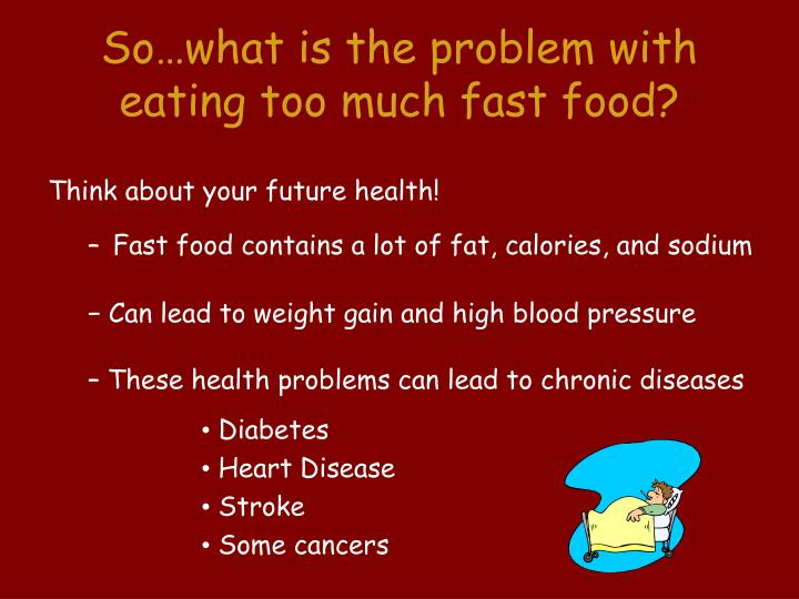 fast food leads to chronic diseases