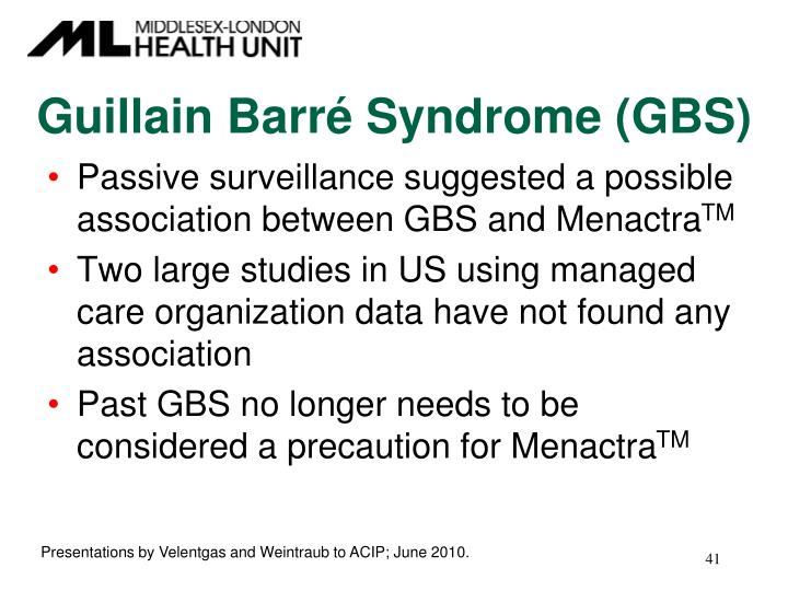 Guillain Barré Syndrome (GBS)