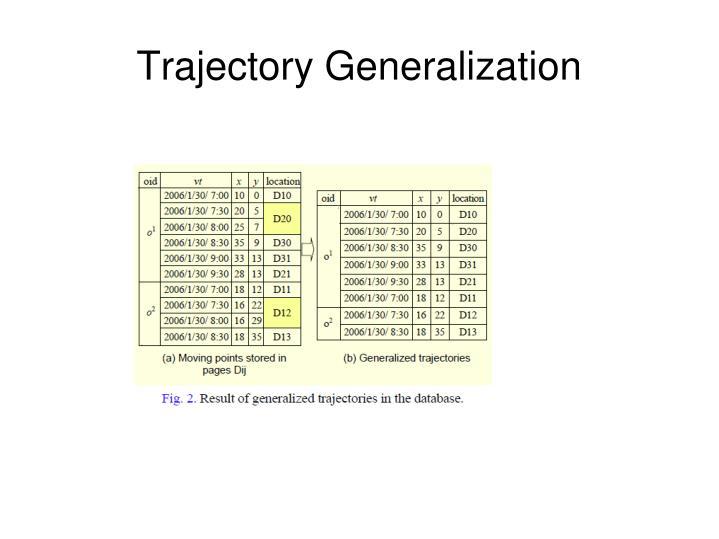 Trajectory Generalization