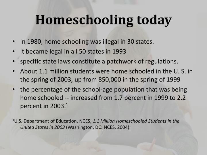 Homeschooling today