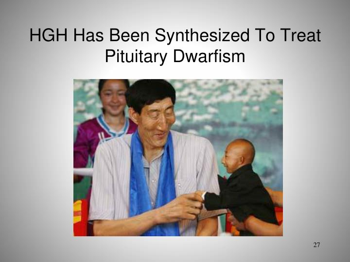 hgh has been synthesized to treat pituitary dwarfism