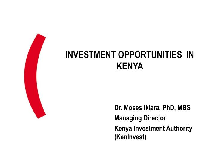 investment opportunities in kenya n.
