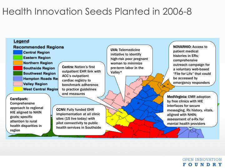 Health Innovation Seeds Planted in 2006-8