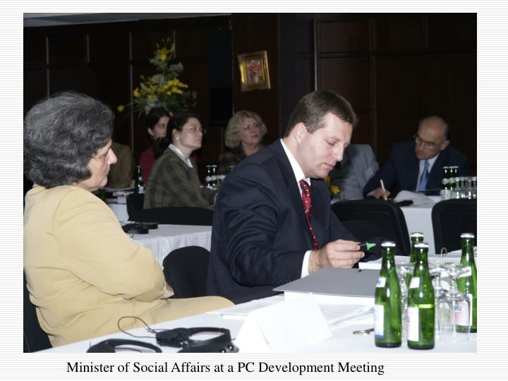 Minister of Social Affairs at a PC Development Meeting