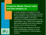 enterprise master person index and data integrity 2