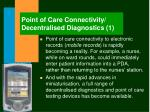 point of care connectivity decentralised diagnostics 1