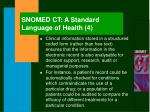 snomed ct a standard language of health 4