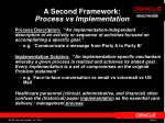 a second framework process vs implementation