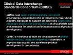 clinical data interchange standards consortium cdisc