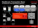 healthcare transaction base a healthcare interoperability platform