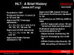 hl7 a brief history www hl7 org