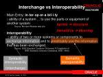 interchange vs interoperability