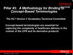 pillar 3 a methodology for binding to concept based terminologies