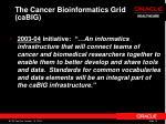 the cancer bioinformatics grid cabig