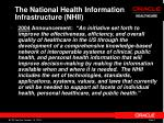 the national health information infrastructure nhii
