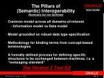the pillars of semantic interoperability necessary but not sufficient