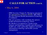 calls for action cont d1