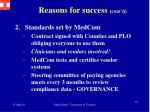 reasons for success cont d