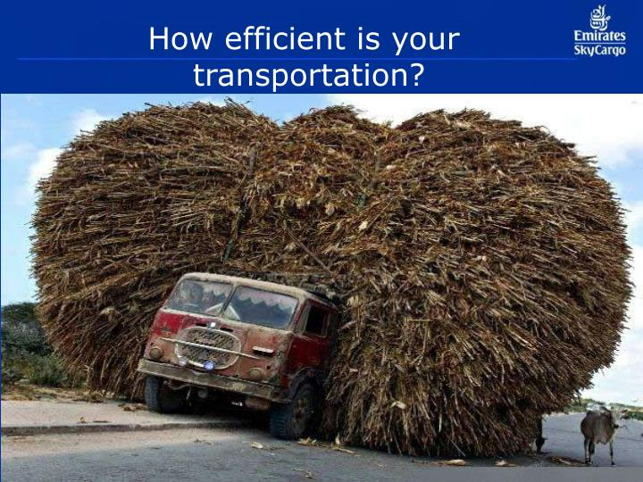 How efficient is your