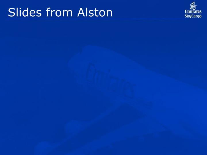Slides from Alston