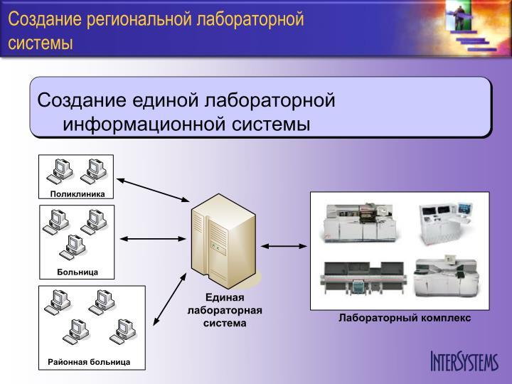 Создание региональной лабораторной системы