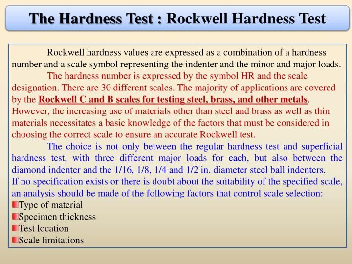 The Hardness Test :