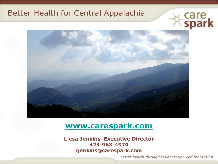 Better Health for Central Appalachia