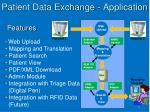 patient data exchange application
