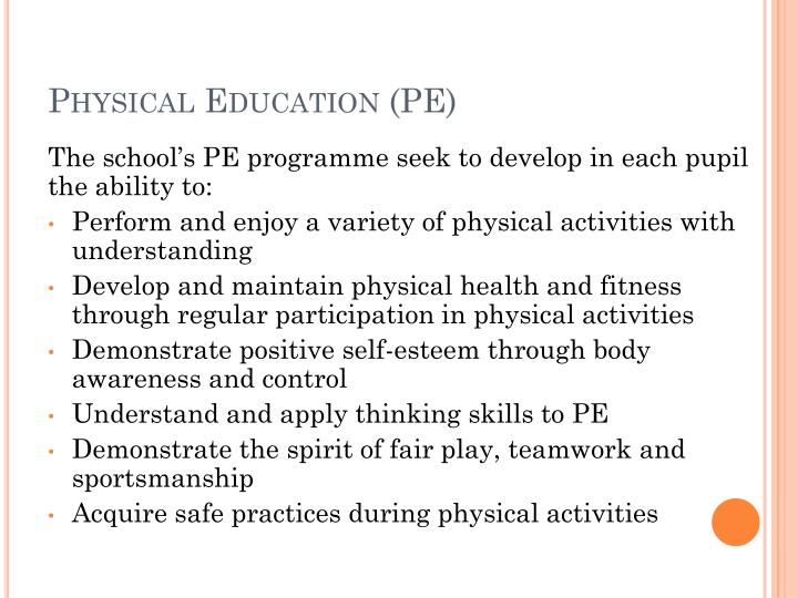 Physical education pe