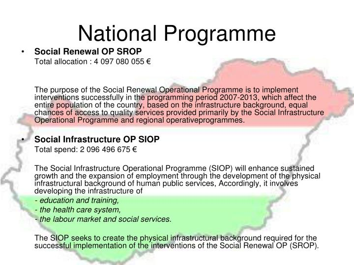National Programme