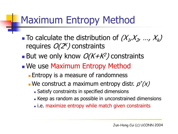 Maximum Entropy Method